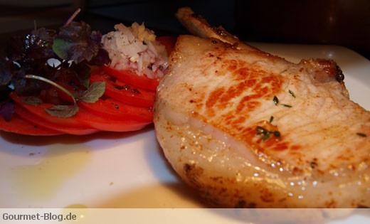 Iberico Steak mit Tomatensalat