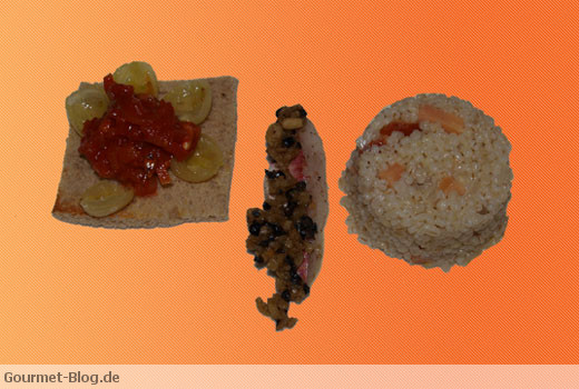 Rotbarbe mit Reis und Bottarga