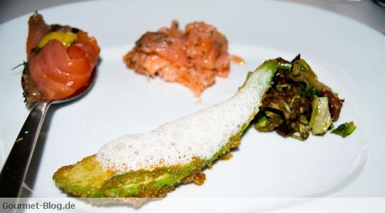 Marinierter Lachs mit Buttermilch Avocado