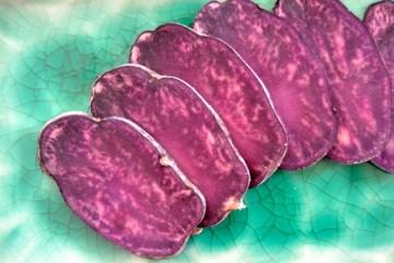 Trüffelkartoffel oder auch Vitelotte genannt