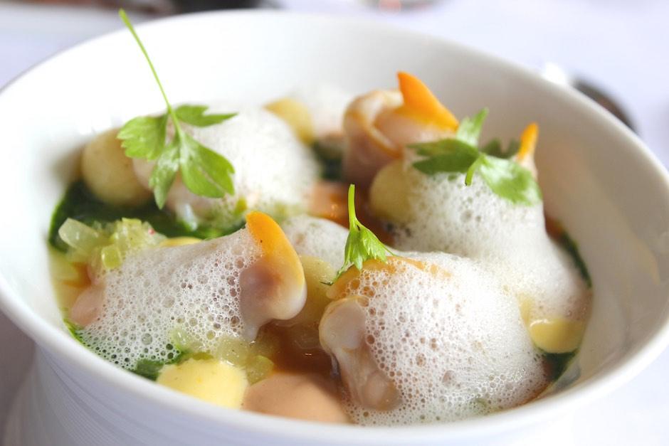 Muscheln mit Dijonsenf – Joghurt – Dill – Sauce