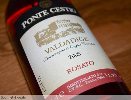 rosewein-ROSATO VALDADIGE  DOC PONTE  CESTIO