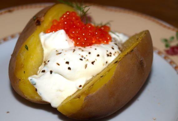 gefüllte Kartoffeln sind lecker