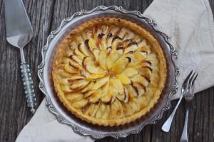 Munster-Tartelettes mit Apfel-Birnen-Scheiben