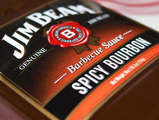 ... Sauce um Fleisch zu marinieren ist die Spicy Bourbon BBQ Sauce von Jim
