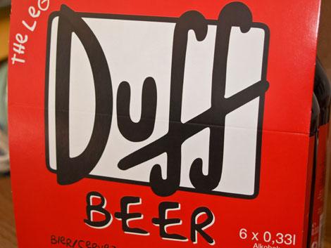 Duff-Beer ein Bier im Stile der Simpsons