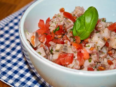Matjessalat mit Tomaten - somemerlicher Genuss