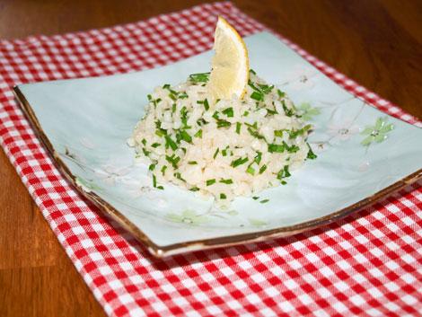 Risotto mit Schnittlauch und Parmesan