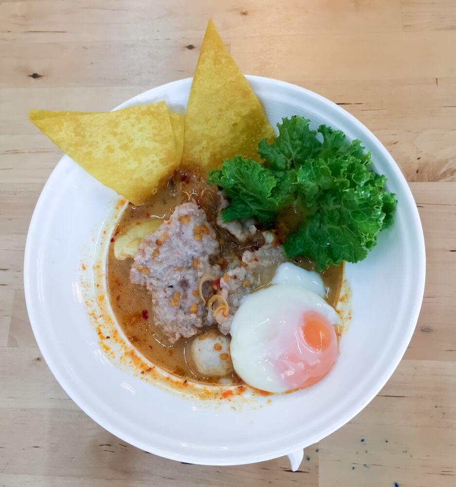Onsen Ei mit thailändischen Zutaten