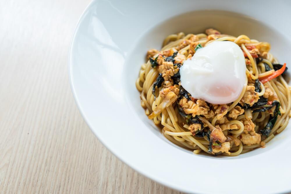 Onsen Ei perfekt für Pasta