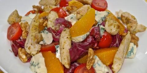 Radiccio-Salat mit Orangen und Roquefort