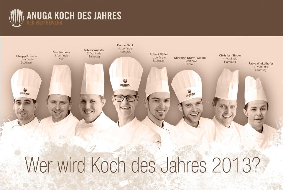 Anuga wer wird der koch des jahres 2013 for Koch des jahres