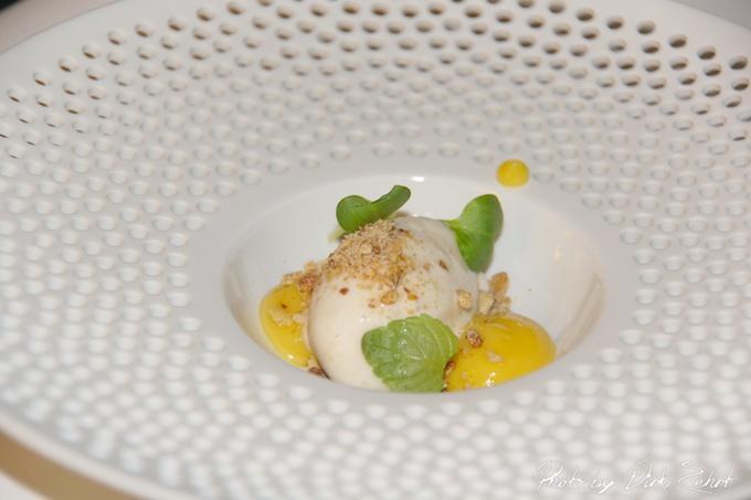 10.das Korn als Pre Dessert Hafer Eis  Mais Gel  Getreide Staub