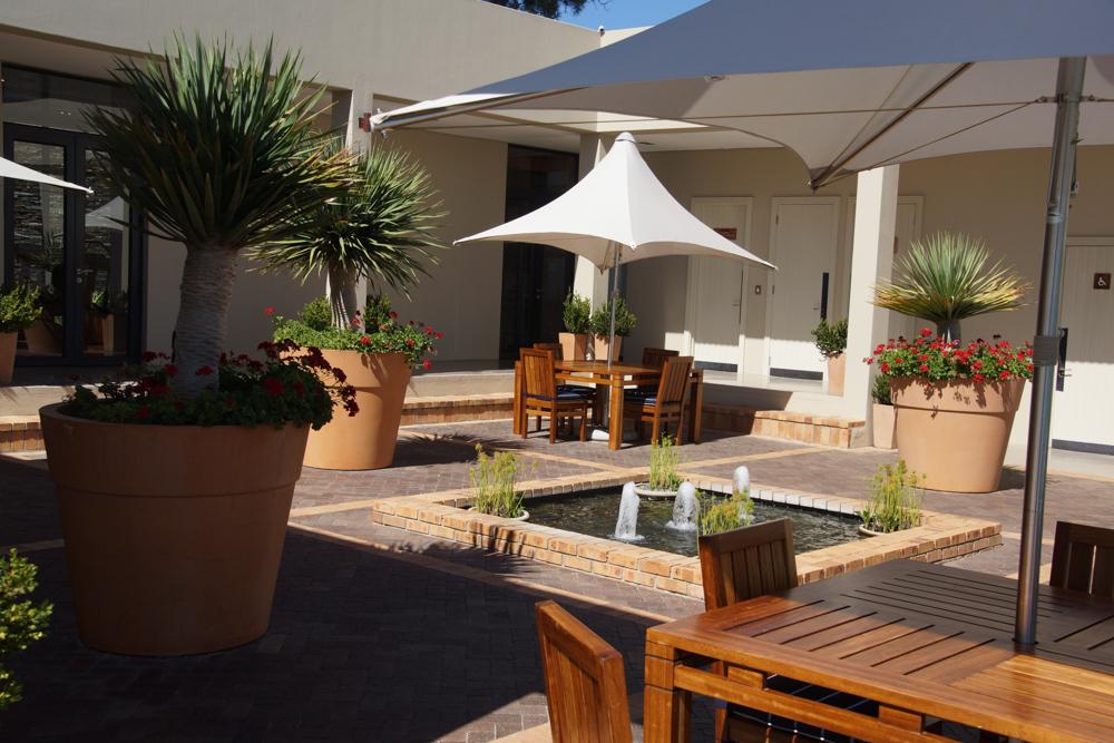 Delaire Graff Lodges & SPA - Lounge im Freien