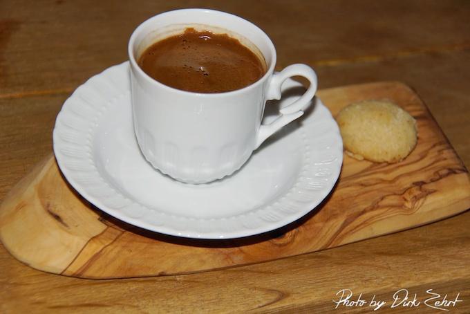 Türkischer Mokka in der Tasse