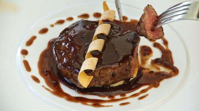 Ristaurante La Terrazza Parco San Marco Steak Gericht