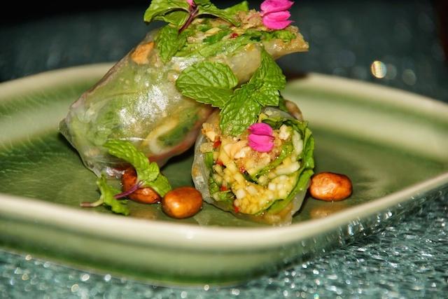 Frühlingsrollen im Saffron Restaurant - fruchtig und lecker