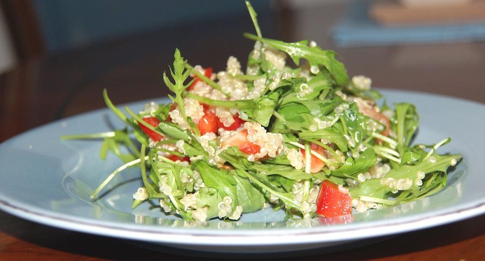 Rucola Quinoa Salat