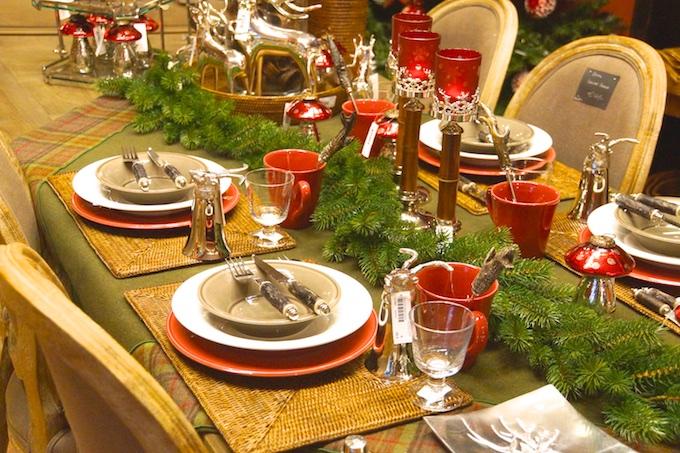 Der gedeckte Weihnachtstisch