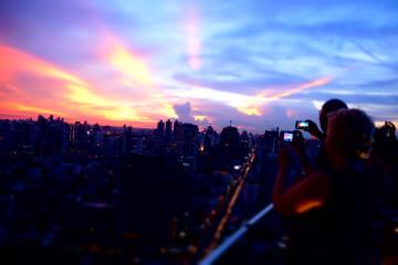 Octave Rooftop Lounge - Bangkok Marriott Sonnenuntergang