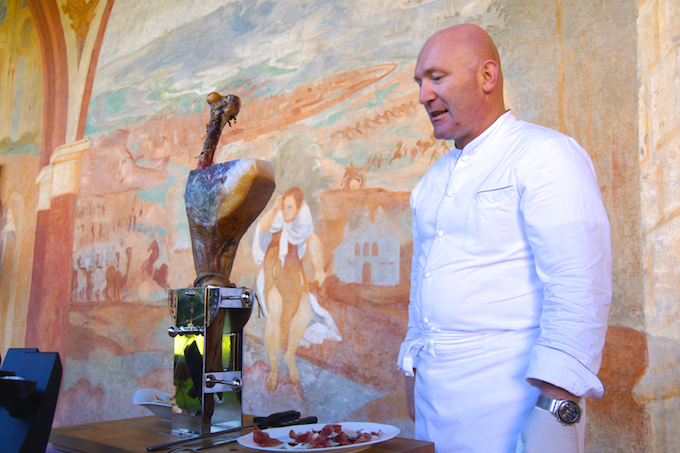 Essen in der historischen Villa Margon