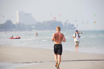 Joggen am Strand - Was kann es schöneres geben