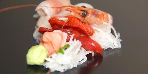 Garnelen-Sashimi