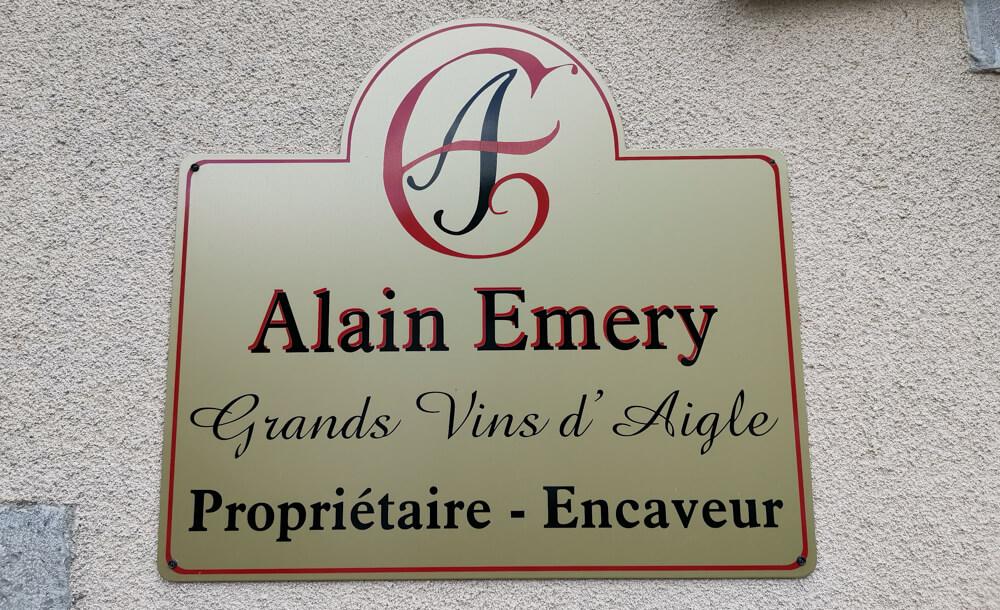 Cave Alain Emery, Aigle, Waadt - Eingang zum Weingut