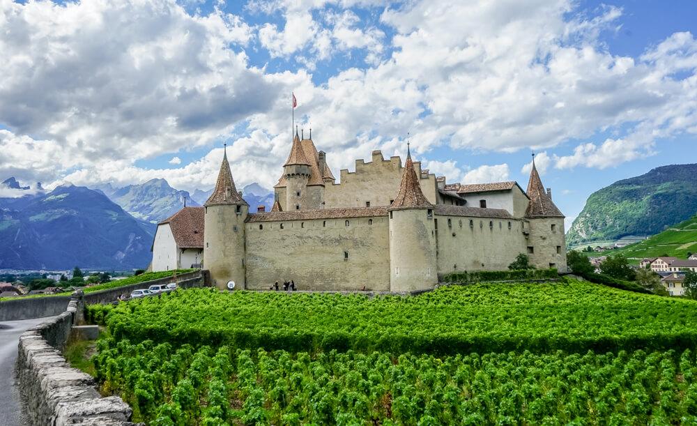 Château d'Aigle im Kanton Waadt