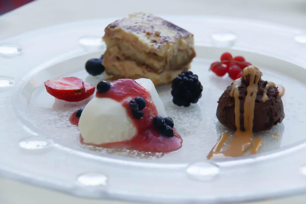 Kukuriku Restaurant in Kastav - Dessert-variation mit Mousse, Tiramisu