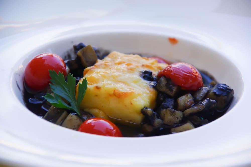 Kukuriku Restaurant in Kastav - Grana Padano Polenta mit Tintenfisch im eigenen Sud