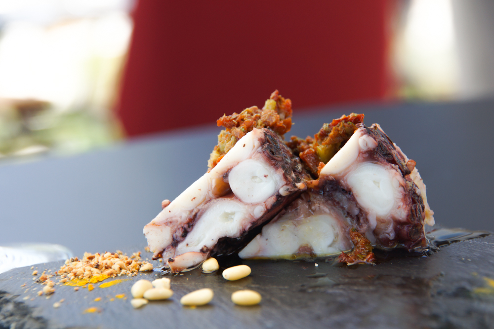 Restaurant Navis - Tintenfisch Kuchen