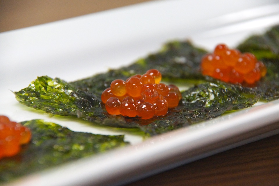 Alaska Lachskaviar mit Nori