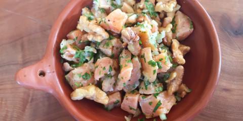 Lachs Ceviche mit Walnüssen