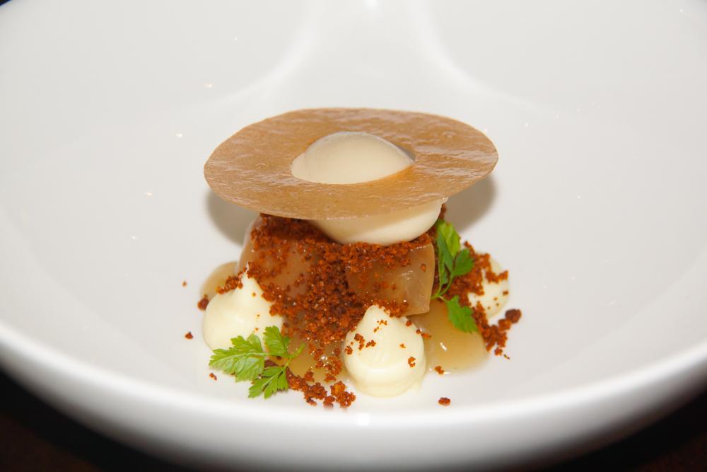Apfel Miso und Vanille Dessert