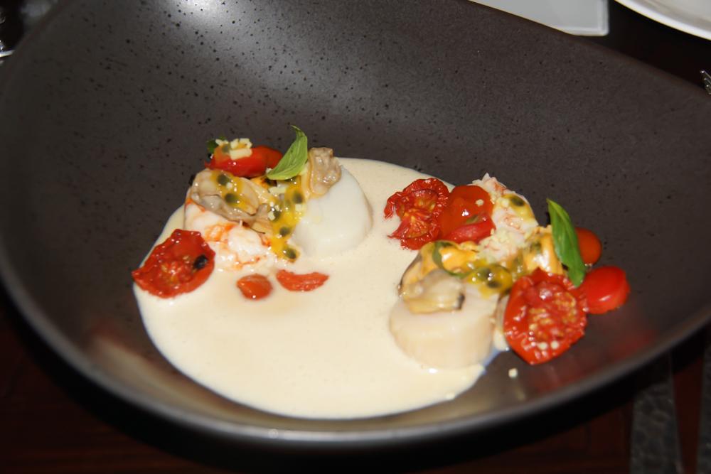 Jakobsmuschel Miso und Tomate - Köstliche Komposition
