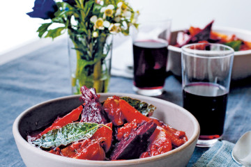 Rote-Bete-Bourguignon mit Lorbeer