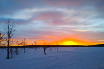 Sonnenuntergänge im Winter