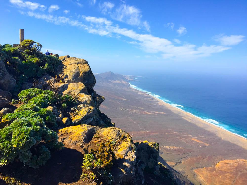Pico de la Zarza Rundweg - Ausblick auf die schönsten Strände Fuerteventuras