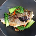 Fischgericht aus dem Wok