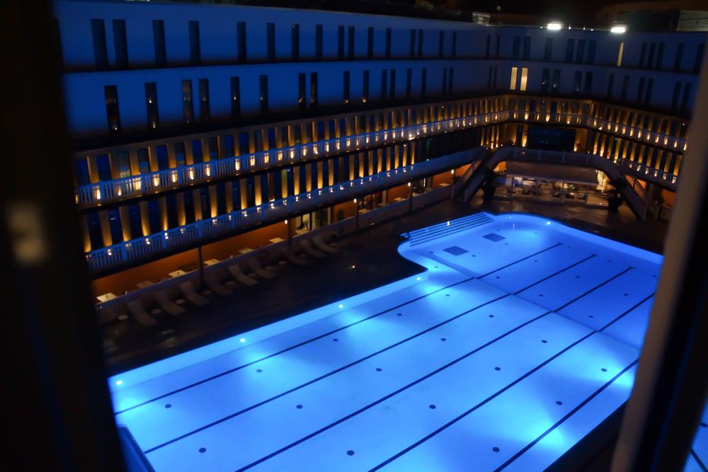 Hotel Molitor - Paris bei Nacht vom Zimmer aus