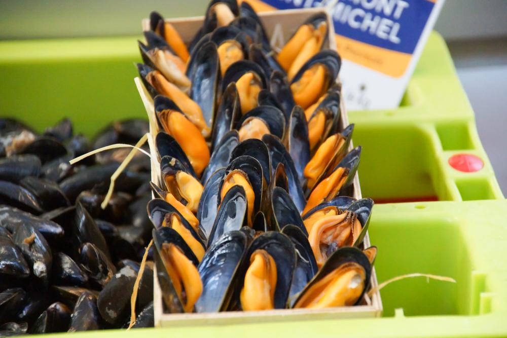 Marché de Talensac in Nantes - Miesmuscheln bester Qualität