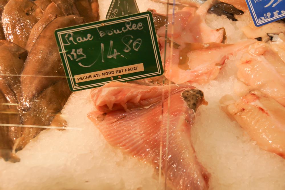 Marché de Talensac in Nantes - Rochenflügel - eine seltene Delikatesse