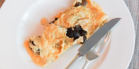 Omelett mit Steinpilzen