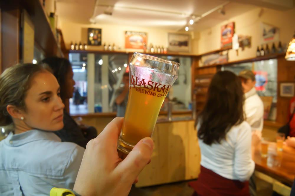 Bierverkostung in Alaska