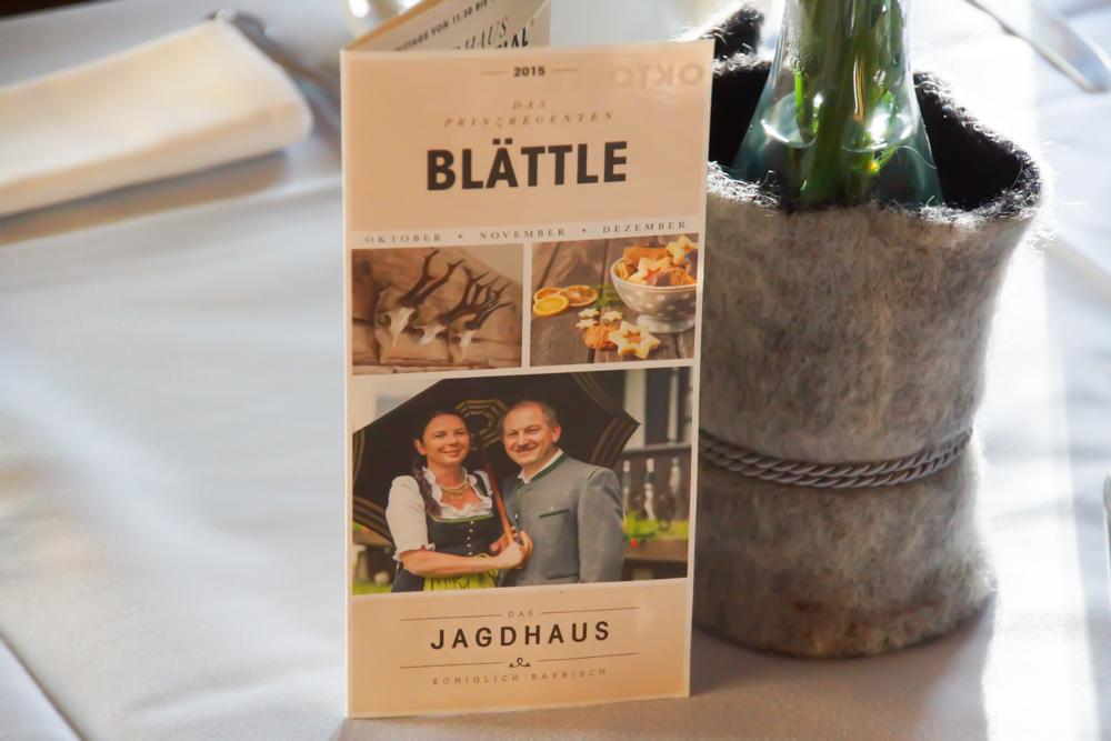 Das Jagdhaus Restaurant - Das Blättle - Immer auf dem Laufenden
