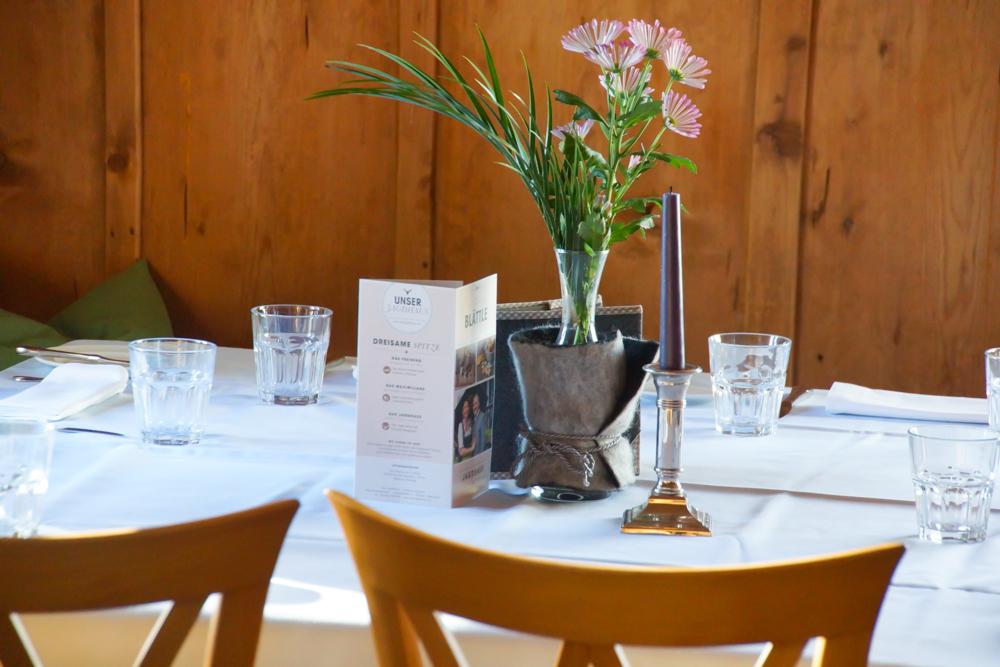 Das Jagdhaus Restaurant - Tischdekoration