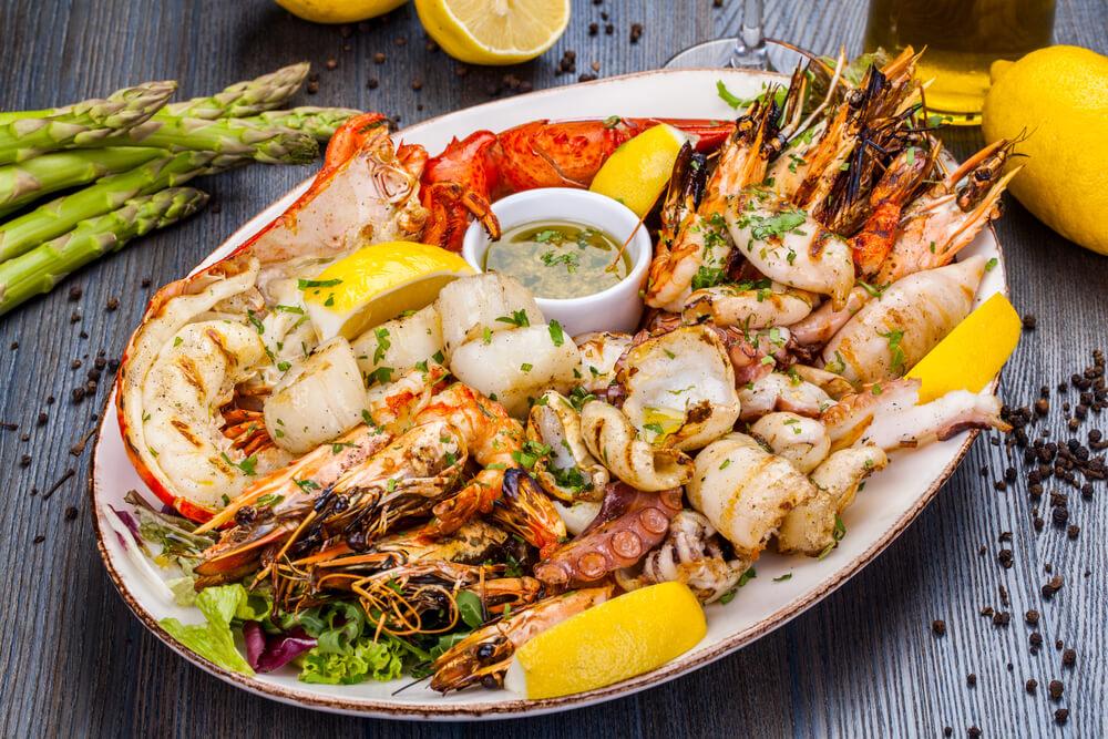 Meeresfrüchte-Platte - Typisch mediterrane Küche