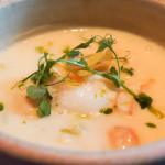Schellfisch, Kartoffel Cremesuppe und pochiertes Hühnerei