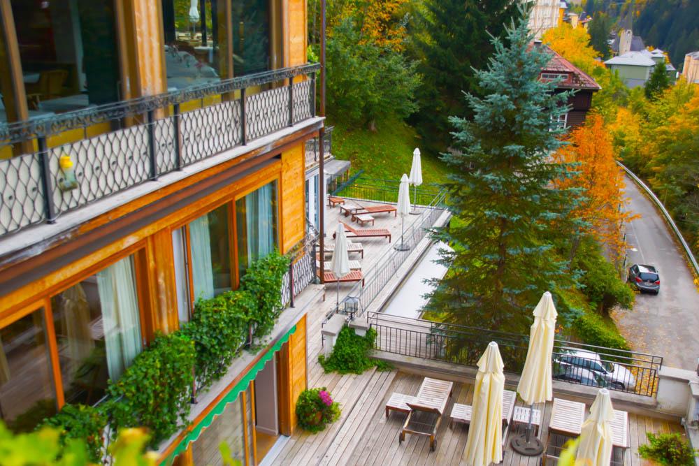 Haus Hirt - Bad Gastein - Ausblick zum Wellnessbereich